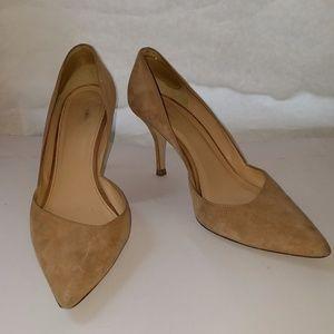Dorsay Suede Tan J. Crew 8 Womens heels